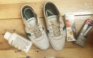 Как быстро и легко отмыть белые кроссовки