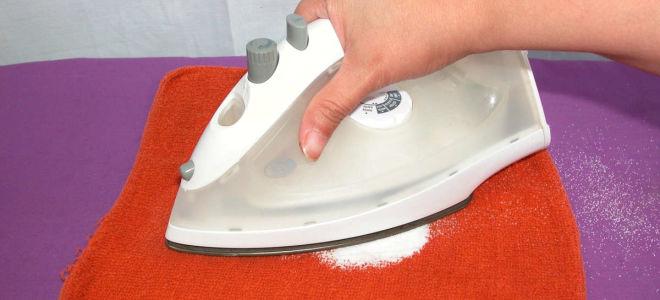Как самостоятельно очистить утюг от накипи