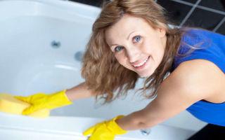 Как очистить ванну и удалить налет в домашних условиях