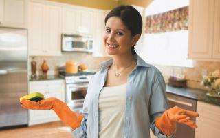 Как отмыть кухню и кухонную мебель от жира, грязи и налета