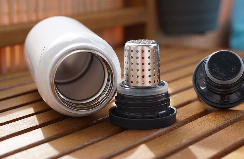 Термос и крышка с фильтром