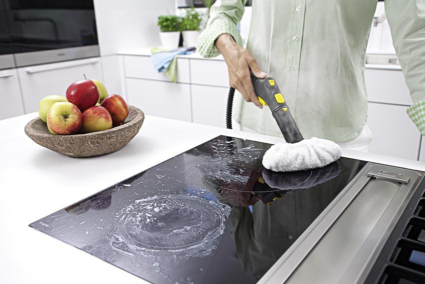 Пароочиститель на кухне