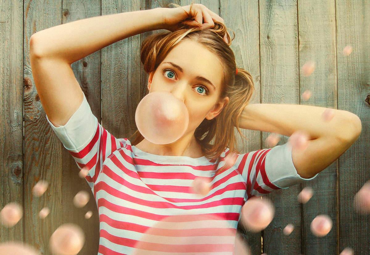 Пузыри жевательной резинки
