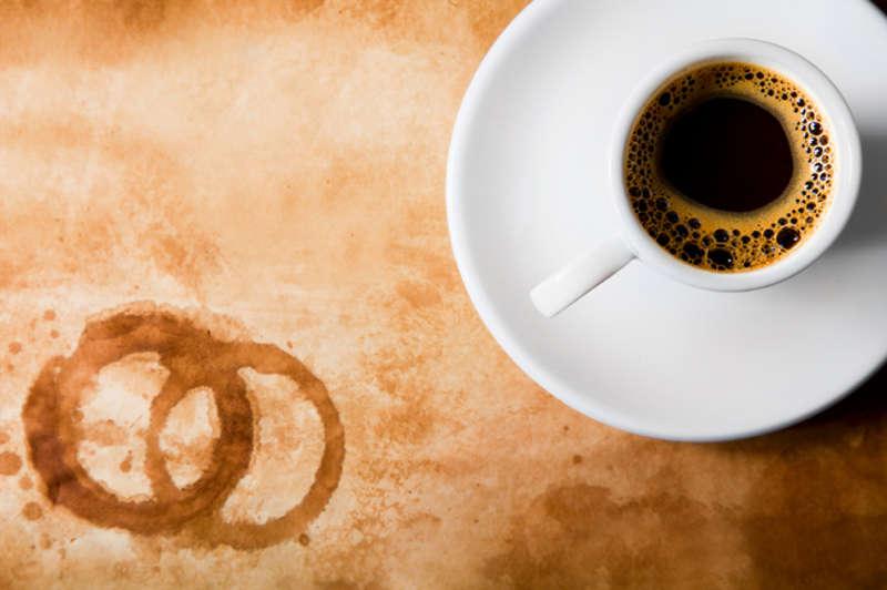 Пятна от кофе
