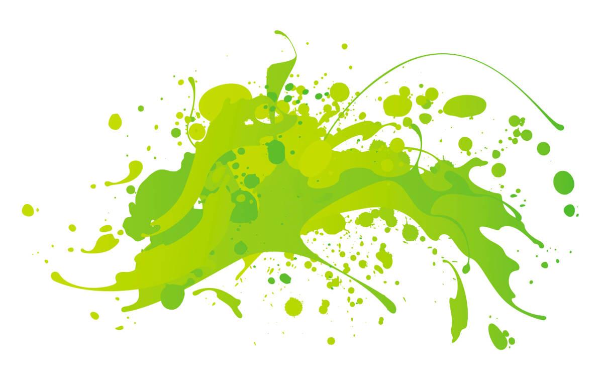 Пятно зелёной краски