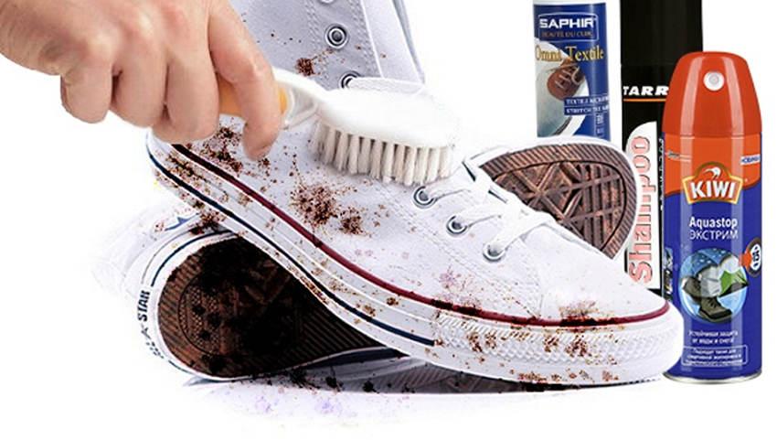 Как отстирать белые в цветочек тряпочные кроссовки.как вывести пятно от майонеза фото