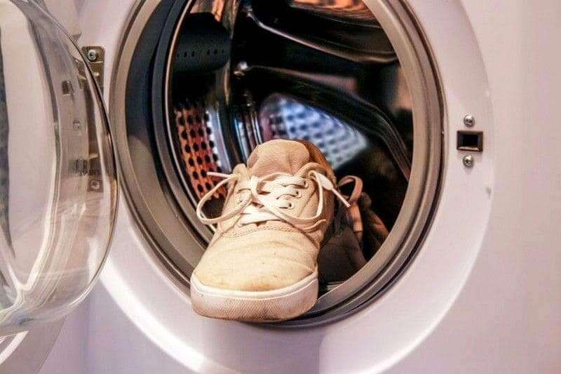 Обувь в стиральной машине