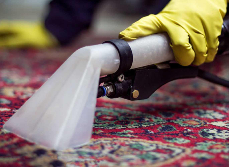 Чистит ковёр пылесосом