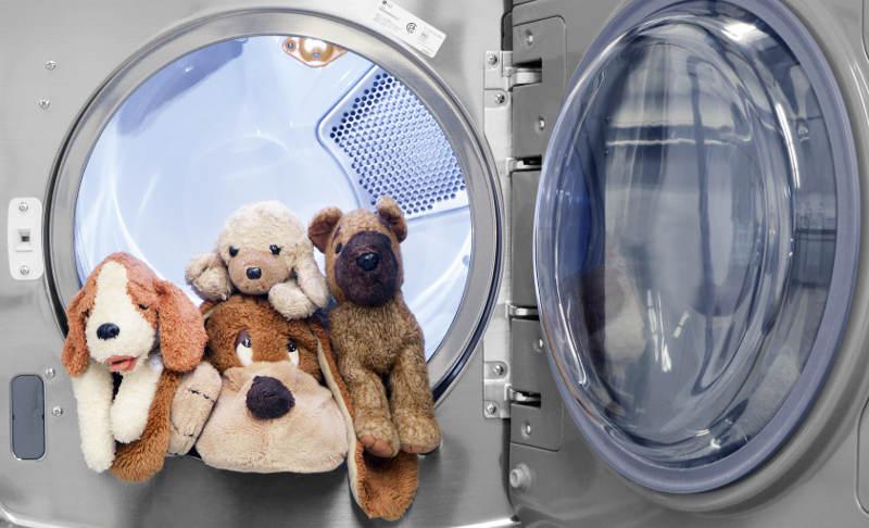 Мягкие игрушки в стиральной машине